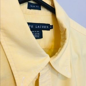 Ladies Ralph Lauren Lemon Slim Fit Cotton Shirt